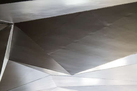 stainless steel roof valid as texture or background Imagens