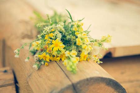 yellow wildflowers bouquet summer freshness