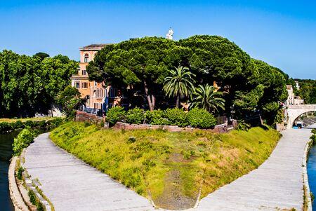 tiber: View of the Tiber Stock Photo