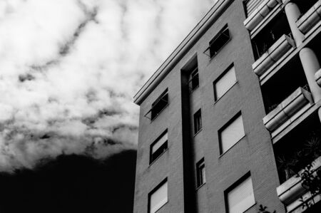 periphery: Building in black and white
