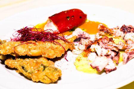 plato de pescado: Fish dish Foto de archivo