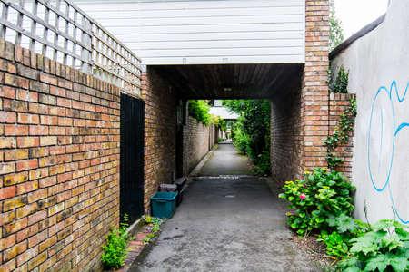 live work city: suburban street in Bristol, England