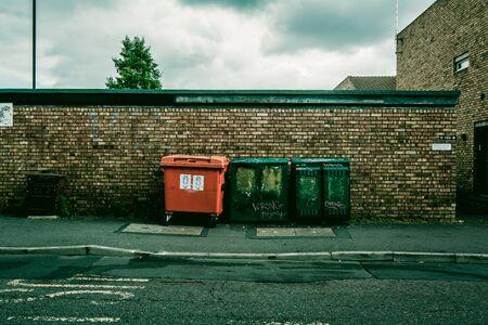 periphery: Rubbish bins in England