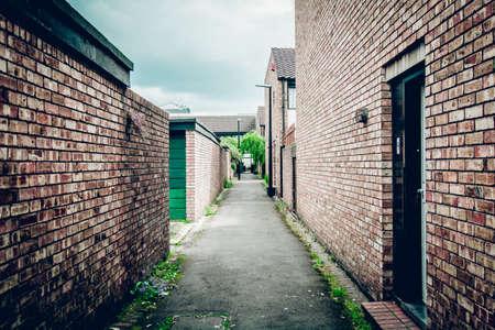 live work city: Brick houses: exterior view