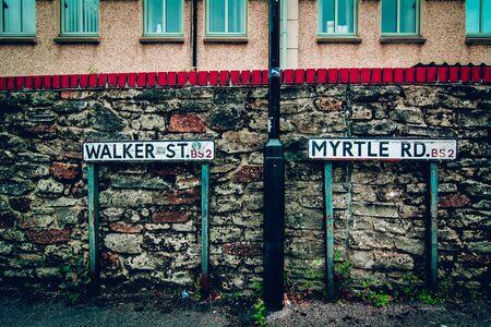 live work city: street addresses in England