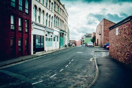 live work city: suburban street