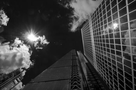 periphery: Buildings in London. bottom view Stock Photo