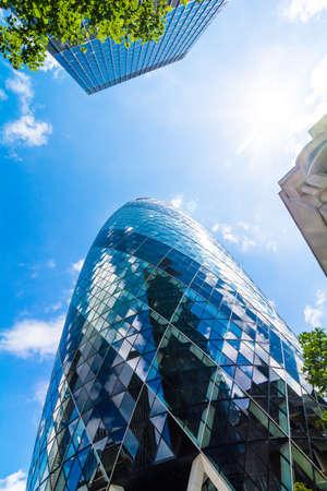 periphery: Buildings in London. bottom view Editorial