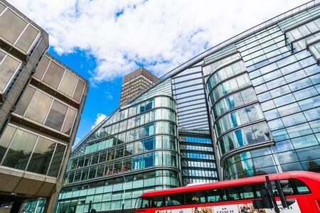 periphery: London street with modern buildings Editorial