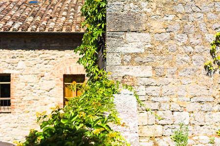 tuscan: oldest buildings in the Tuscan villages Stock Photo