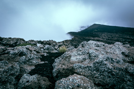 force of the nature: The force of nature: fog in a volcanic landscape