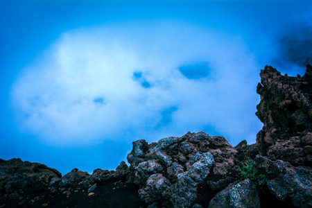 The force of nature: fog in a volcanic landscape