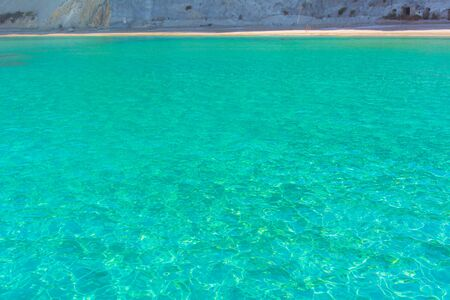The sea of ??the island of Ponza. The beauties of Italian nature