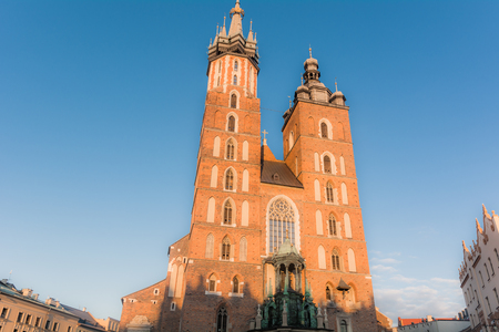 Streets and palaces of the city of Krakow in Poland: places to visit