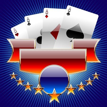 poker card: Abstract illustration of gambling cards Illustration