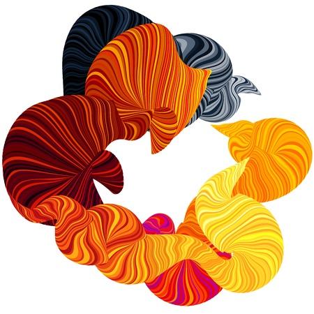 bionico: Abstract illustrazione di fumo meraviglia. Linee curve