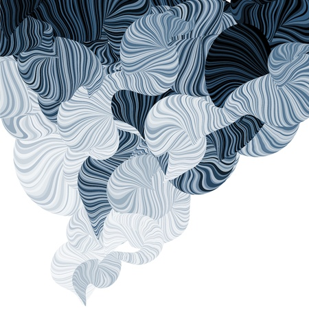 Abstract illustration of wonder smoke. Curving lines Vector