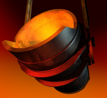molted: Melting ladle