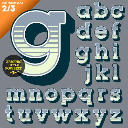 old fashioned: Old fashioned alphabet  Vintage style  Deco filled  Illustration
