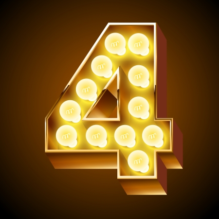 ardent: Old lamp alphabet for light board  Number 4