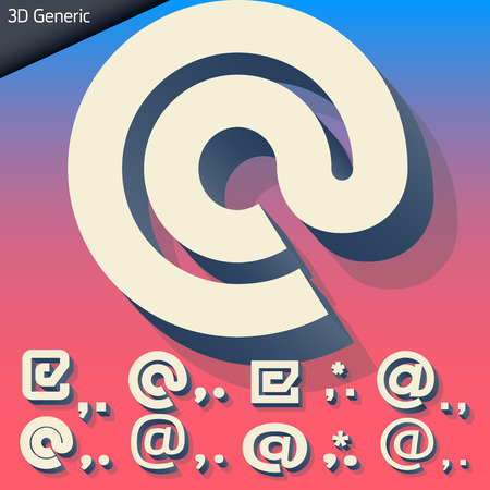 generic: Vector alphabet of simple and generic 3d letters. Symbols Illustration