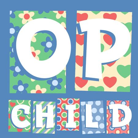 cosy: Vector set of cosy countryside children font. Letters O P Illustration