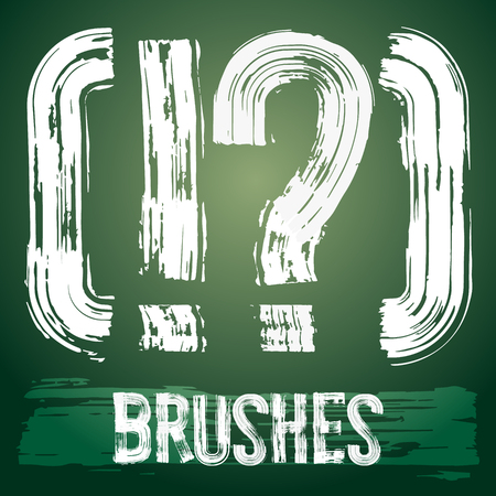 Vector set of grunge brush font available for military, construction and transportation themes. Symbols Stok Fotoğraf - 39287605