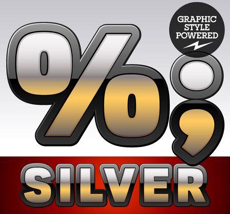 Gold Gradient Vector Vector Set of Gradient Silver