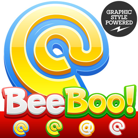optional: Vector set of 3D colorful children font in cartoon style. Optional different colors. Symbols