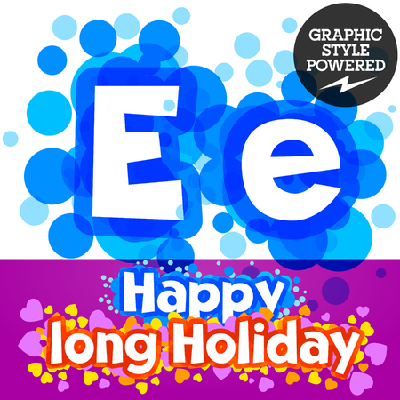 motley: set of happy festive motley alphabet. Letter E