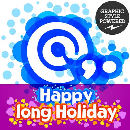 motley: set of happy festive motley alphabet. Symbols Illustration