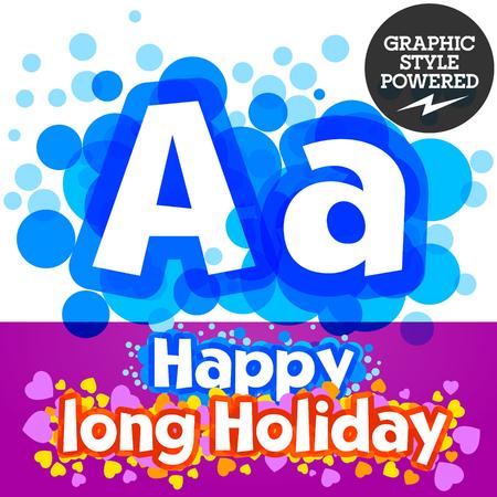 motley: set of happy festive motley alphabet. Letter A Illustration
