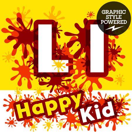 Vector verzameling van grappige kinderen spetteren alfabet. letter L