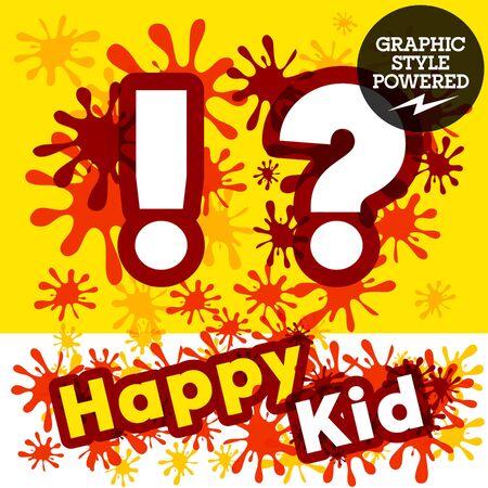 impulsive: Vector set of funny children splash alphabet. Symbols