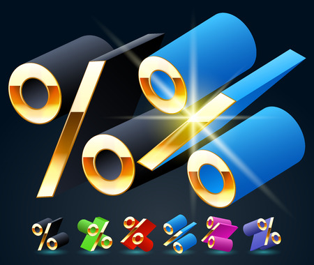 fantastical: 3D vector futuristic luxury alphabet with gold. All symbols in set have 8 random points of view and 6 different colors. Symbol Illustration