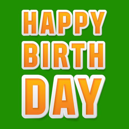 regards: Happy birthday vector card with bright fresh font