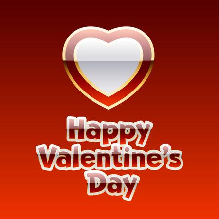 Helle Vektor-Grußkarte für den Valentinstag mit glänzenden Herzen und Text Standard-Bild - 51755717