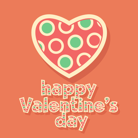st  valentine's: Funny vector greeting card for St Valentines Day with colorful paint heart and text Illustration