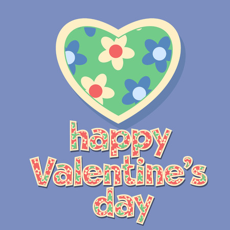 unusual valentine: Nice greeting card for St Valentine with floral pattern