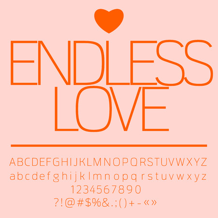 Pink Romantic Card With Text Endless Love Vector Set Of Letters