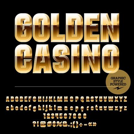 golden symbols: Royal golden set of alphabet letters, numbers and punctuation symbols.