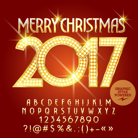 Vector golden light up merry christmas 2017 greeting card with vector golden light up merry christmas 2017 greeting card with royalty free cliparts vectors and stock illustration image 67735219 m4hsunfo