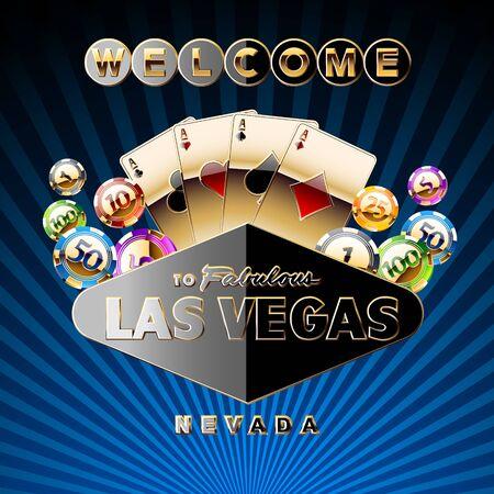 Vector original casino card Ilustrace