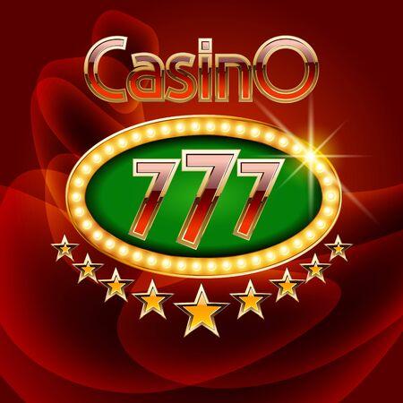 Vector de tarjeta de casino con estrellas de oro Foto de archivo - 69073500
