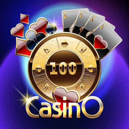 wheel of fortune: Vector chic emblem for luxury casino