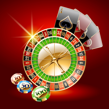 Vector concept of card for chic casino Ilustrace