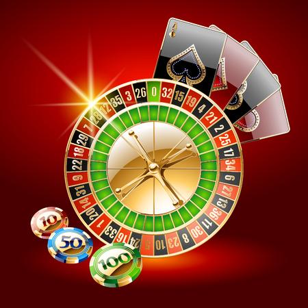 Vector concept of card for chic casino Illusztráció