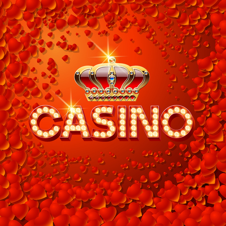 Vector chic emblem for luxury casino