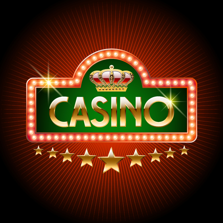 gambling stone: Welcome vector banner for royal casino Illustration