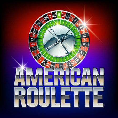 roulette layout: Vector casino card American roulette. Set of letters, numbers and symbols. Contains graphic style
